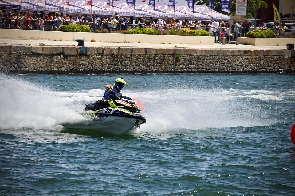 Water Bike, Sea, Splash, Gare, Outdoors, The World