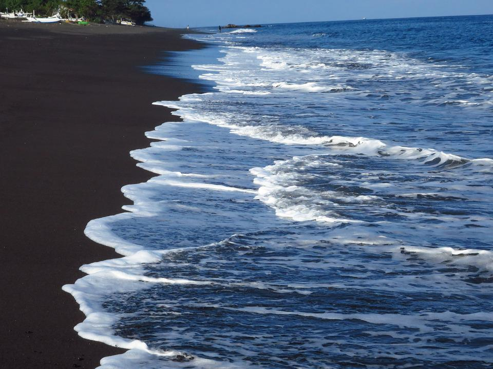 Bali, Ocean, Indian Ocean, Water, Beach, Black Sand