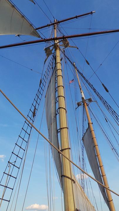 Sailing, Mast, Sailing Boat, Sailing Ship, Water, Blue