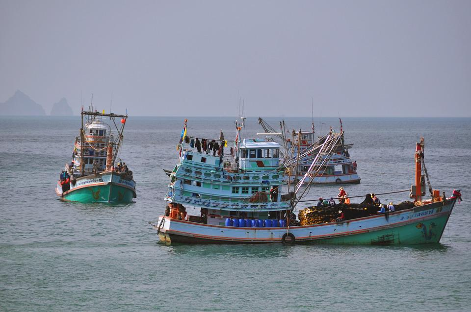 Thailand, Boats, Sea, Water, Ship