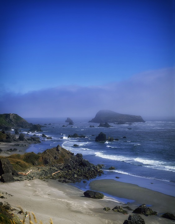 Oregon, Rocks, Boulders, Beach, Sea, Ocean, Water