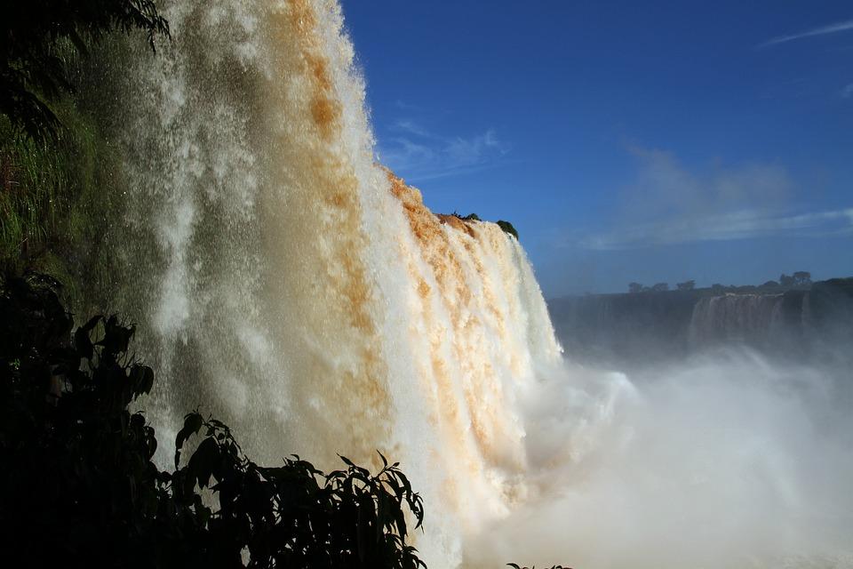 Iguazu Falls, Waterfalls, Brasil, Water, South, America