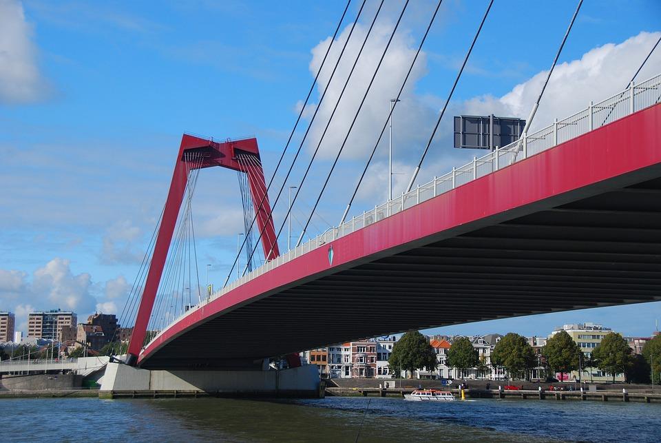 Rotterdam, Bridge, Water