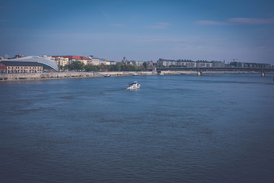 Hungary, Budapest, Water, Boat, Landscape, Spring, Heat