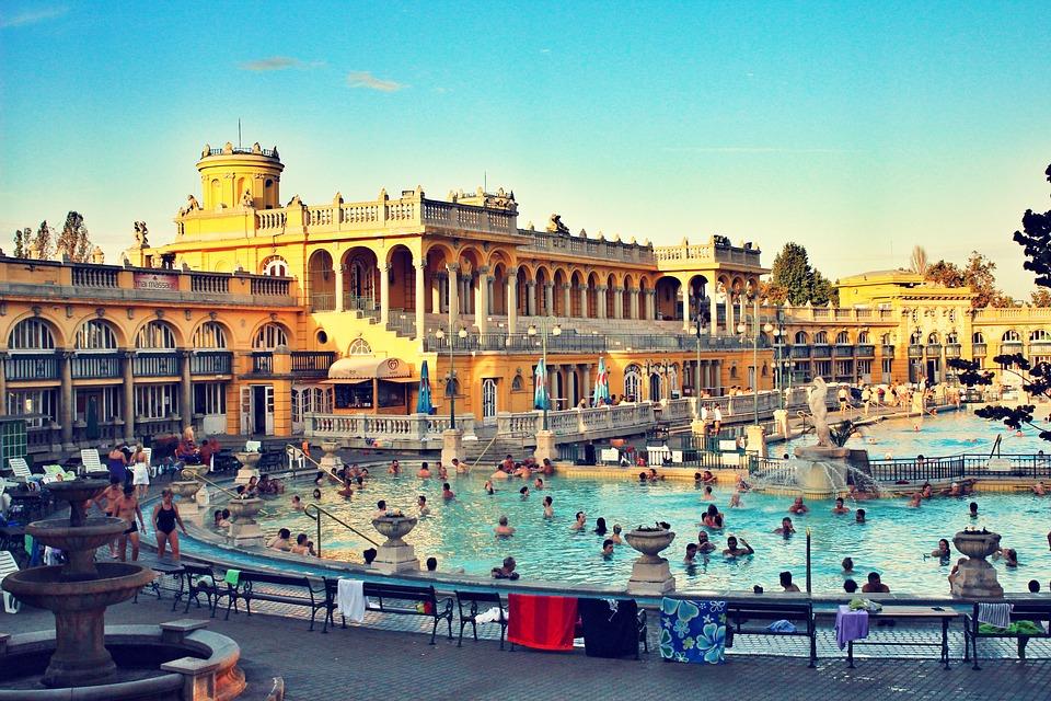 Bathing, Waterpark, Budapest, Hungary, Vacation, Water
