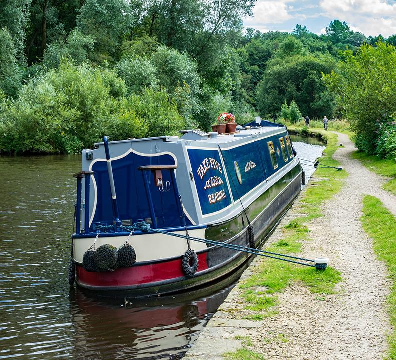 Canal, Boat, Water, Barge, Stalybridge