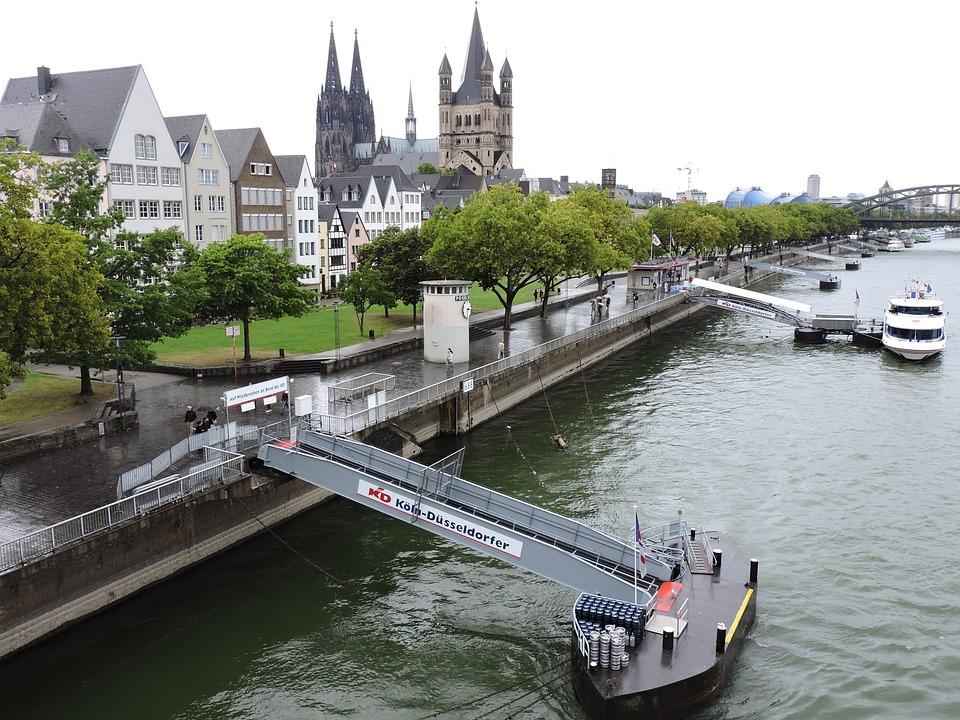 River, Water, City, Architecture, Bridge, Canal, Boat