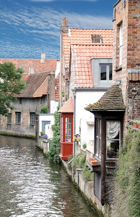 Bruges, Channel, Romantic, City, History, Water, Houses