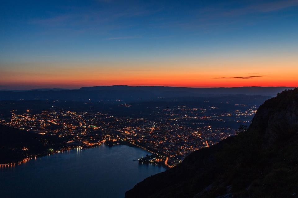 City, France, Water, Summer, Mountainous, Travel, Lake