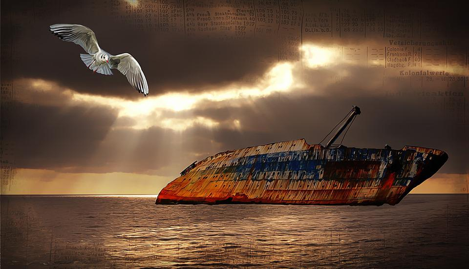 Sea, Lake, Water, Sky, Clouds, Sunset, Lighting, Ship