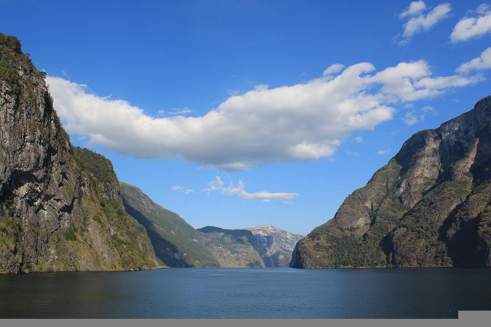 Water, Fjord, Clouds, Norway, Nature, Landscape