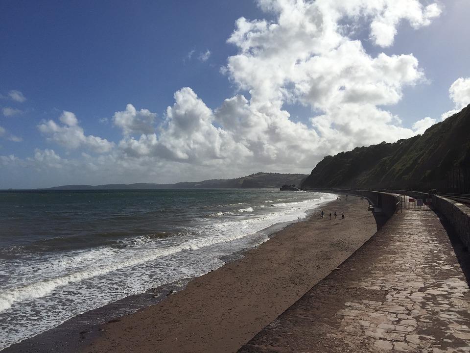 Coast, Water, Sand, Blue, Rail, Summer, Line, Nature