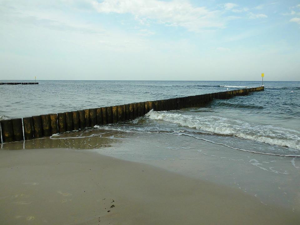 Groyne, Baltic Sea, Coast, Water, Wave, Breakwater