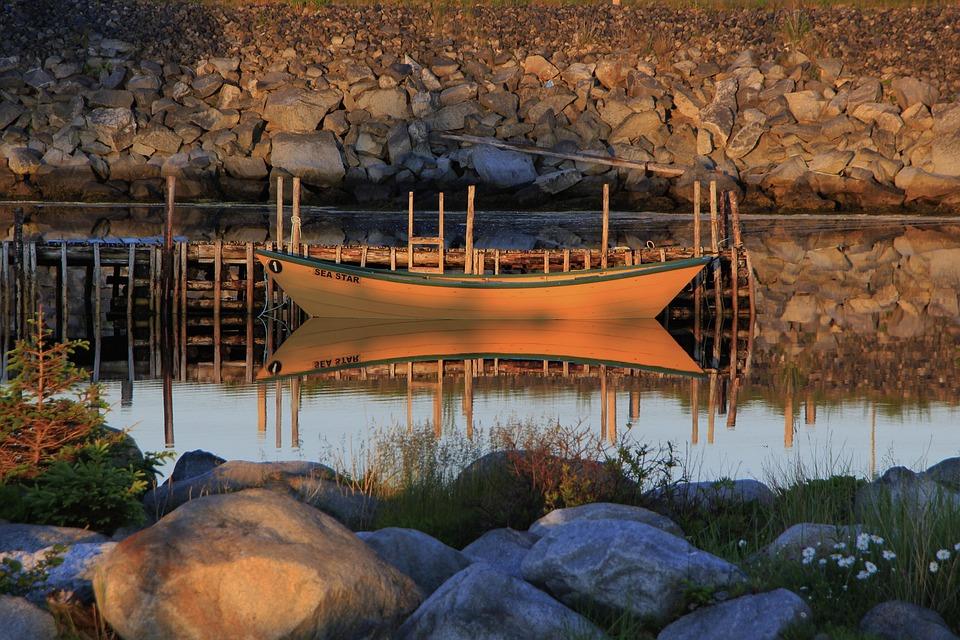 Dory, Boat, Water, Ocean, Sea, Rowboat, Wooden, Coast