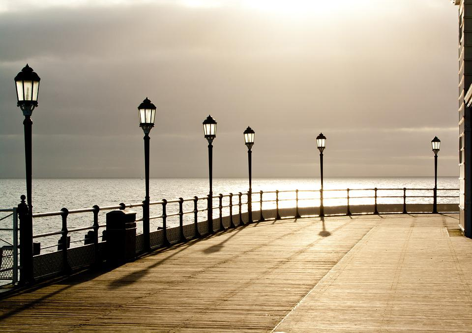 Pier, Seaside, Worthing, Coast, Beach, Water, Ocean