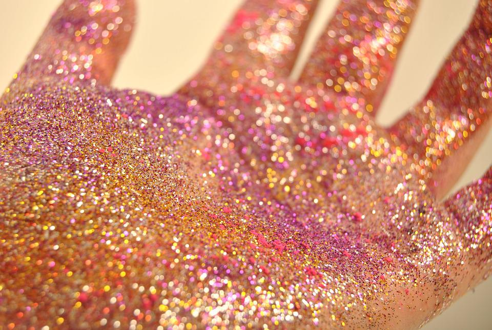 Glitter, Pink, Water, Shiny, Bright, Color, Texture