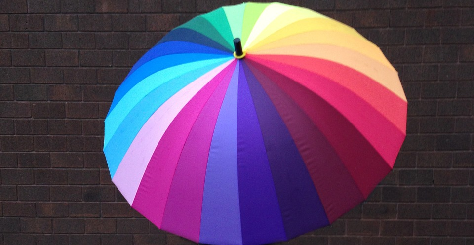 Umbrella, Colors, Striped, Protection, Water
