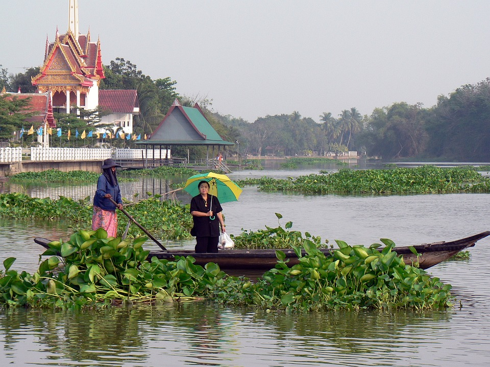 Thailand, River, Boat, Transport, Tray, Water Courses