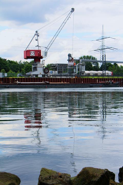Channel, Crane, Water, Harbour City, Cranes, Ship