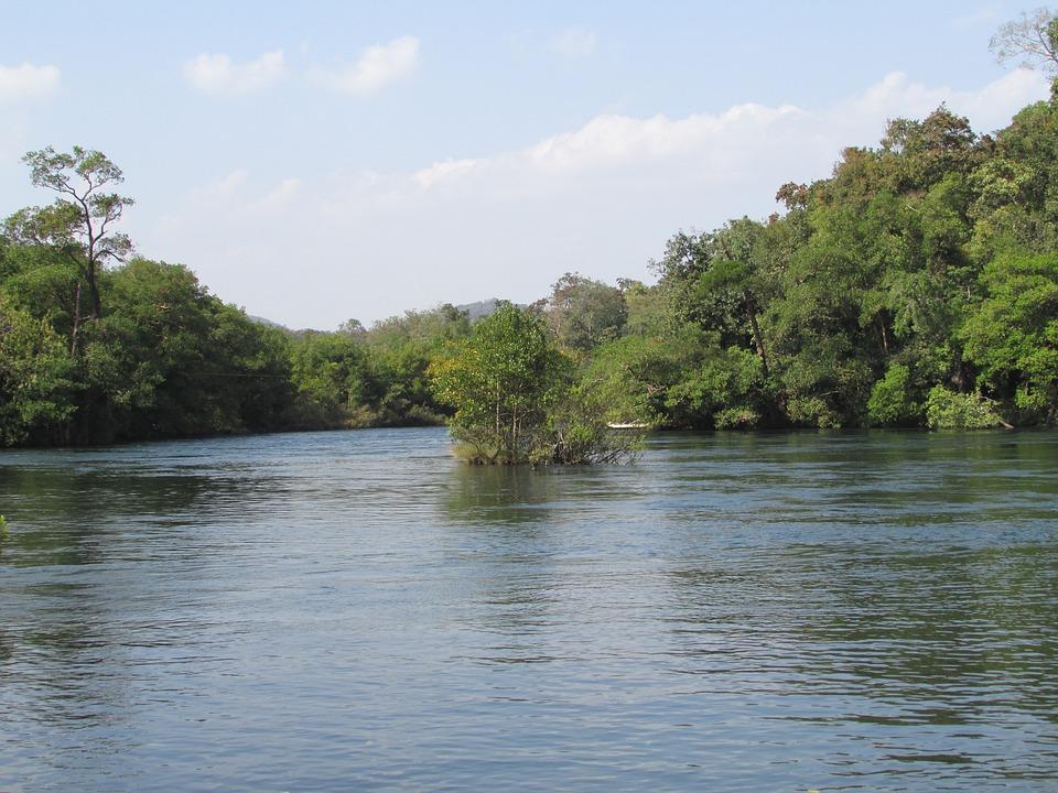 Kali River, Dandeli, Dharwad, Water, River, Bend, Curve