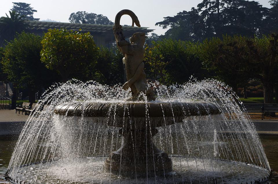 Fountain, Water, Drip, Flow, Wet, Decorative Fountains