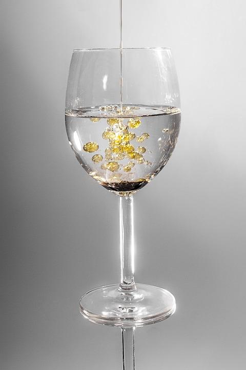 Glass, Crystal Glass, Drink, Oil, Liquid, Drip, Water