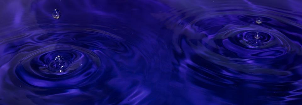 Water, Drops, Water Drop, Blue, Liquid, Rain, Clean