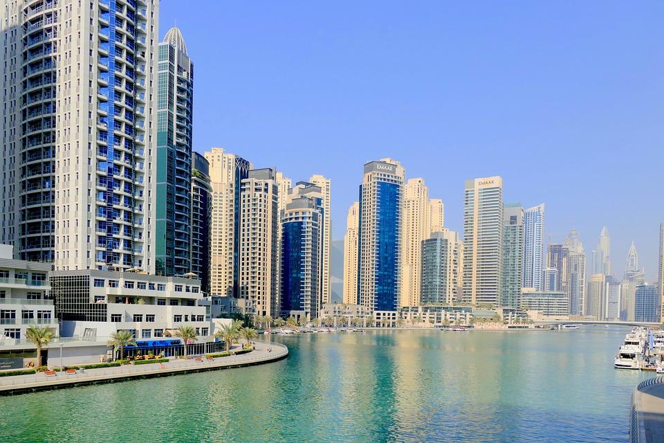 Dubai, Port, Water, Architecture, Skyscraper, Booked