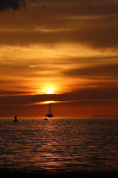 Sunset, Dusk, Water, Florida