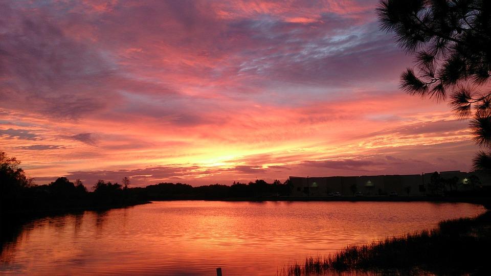 Sunset, Dawn, Dusk, Water, Nature, Sky, Landscape