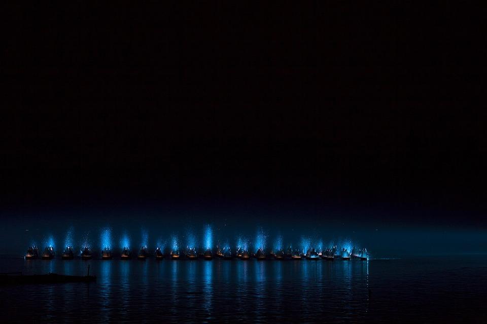 Performance, Dance, Water, Elegance