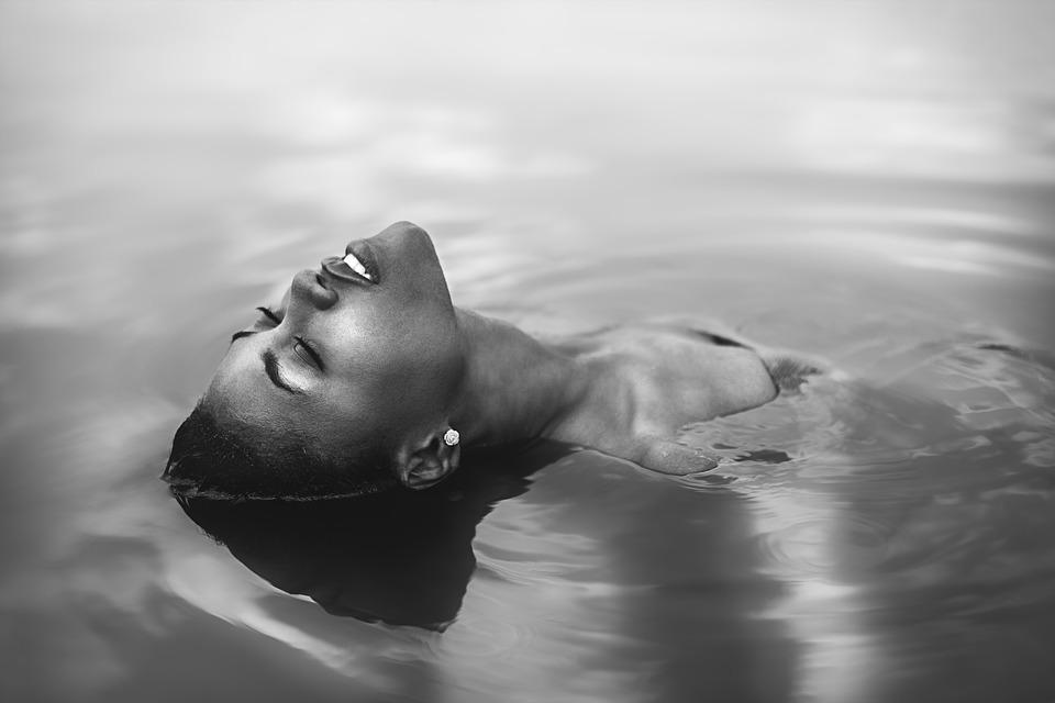 Water, Portrait, Nature, Face, White, Girl, Pride
