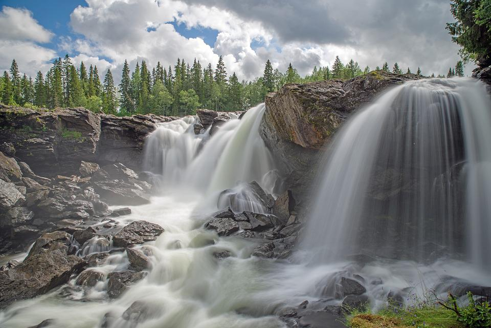 Sweden, Fjäll, Landscape, Nature, Waterfall, Water