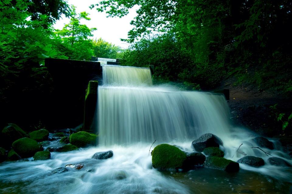 Water, Waterfall, Hamburg, Landscape, Flow, Nature
