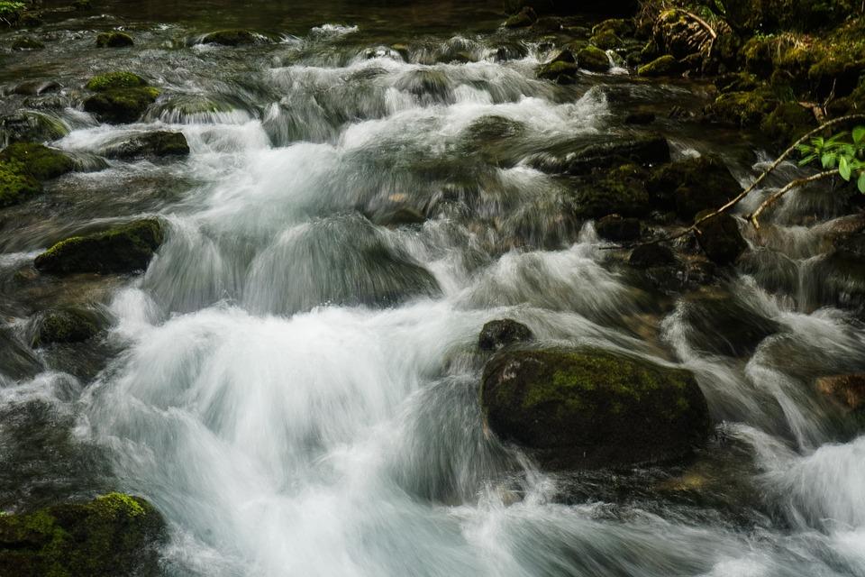 Water, River, Flow, Austria, Kleinwalsertal, Landscape