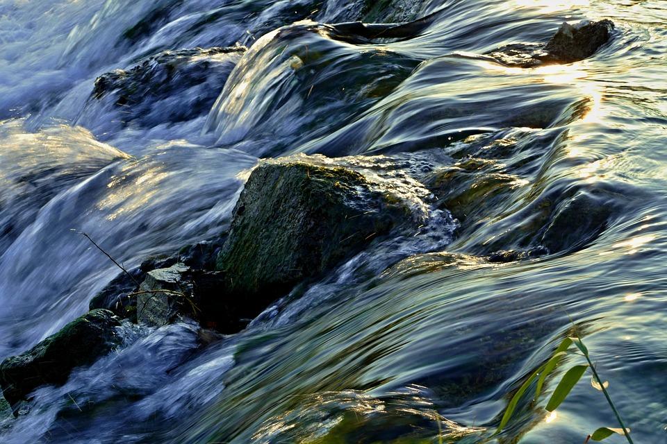 Waterfall, Rock, Creek, Water, Nature, Flow, Running