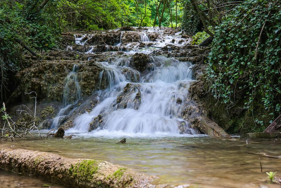 Waterfall, Bach, Water, Creek, Cascade, Flow, Nature