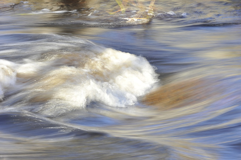 Water, Flowing, Whitewater, Splash, Splashing, Wave