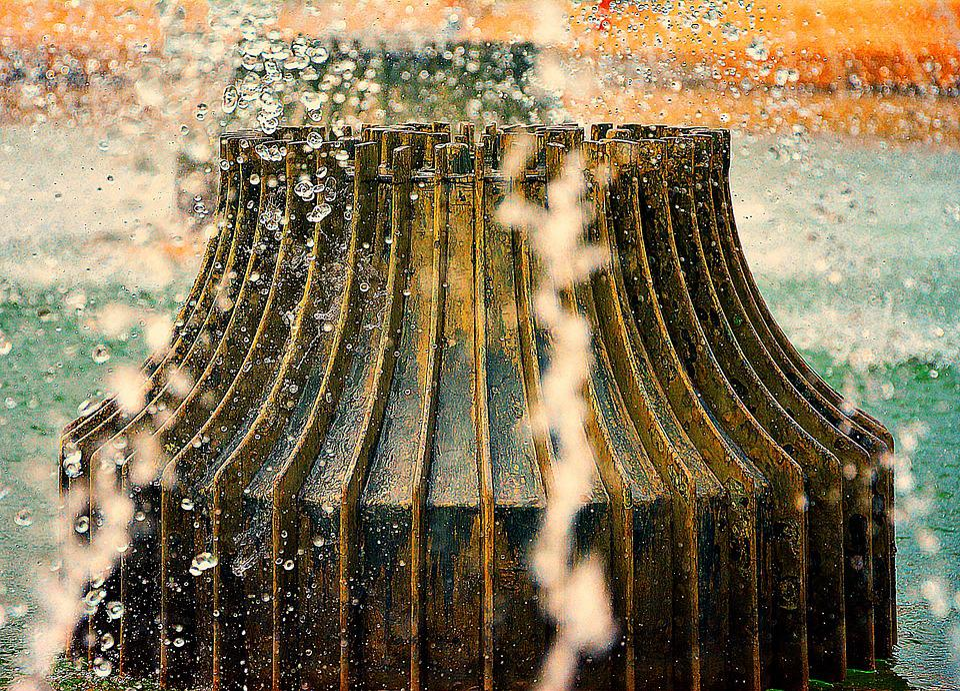 Fountain, Water, Gargoyle