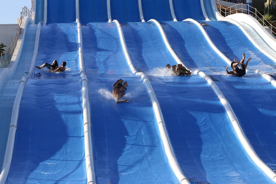 Slip, Pool, Play, Water Mirror, Rest, Fun, Amuse, Water