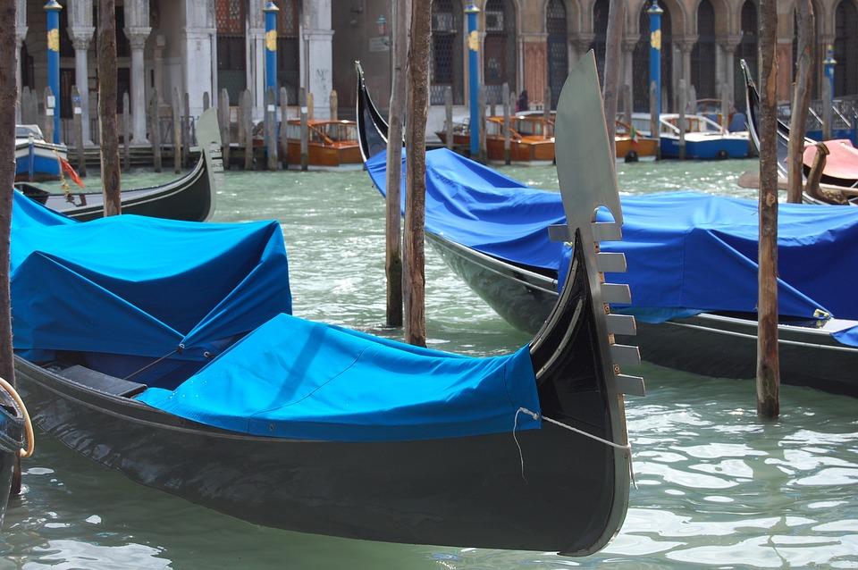 Gondola, Venice, Boats, Water