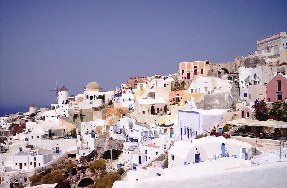 Greece, Santorini, The Coast, Landscapes, Water, Island