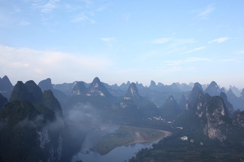 Guilin, Water, Mountain, Views, Check Out, Lake