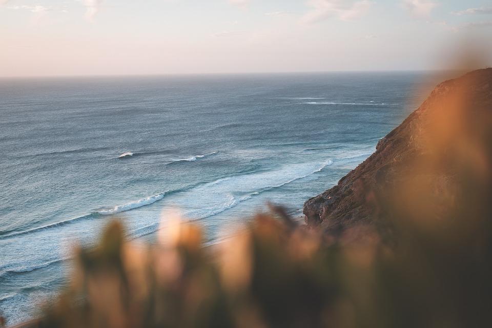 Sea, Cliff, Horizon, Ocean, Water, Scenery, Scenic