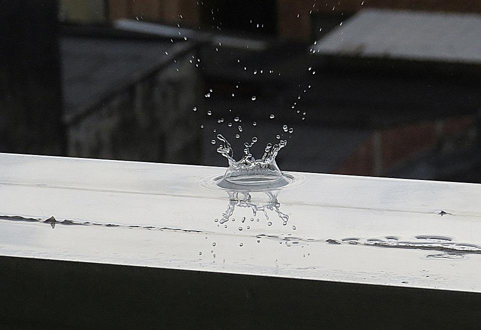 Image Black-and-white, Drop, Water, Liquid