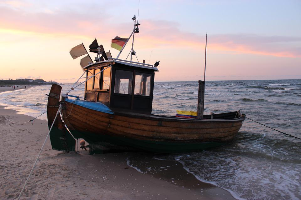 Boot, Lake, Water, Ship, Bank, Abendstimmung, Island