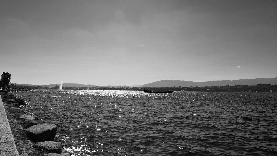 Lake, Stars, Water Jet, Waves, Reflections, Light