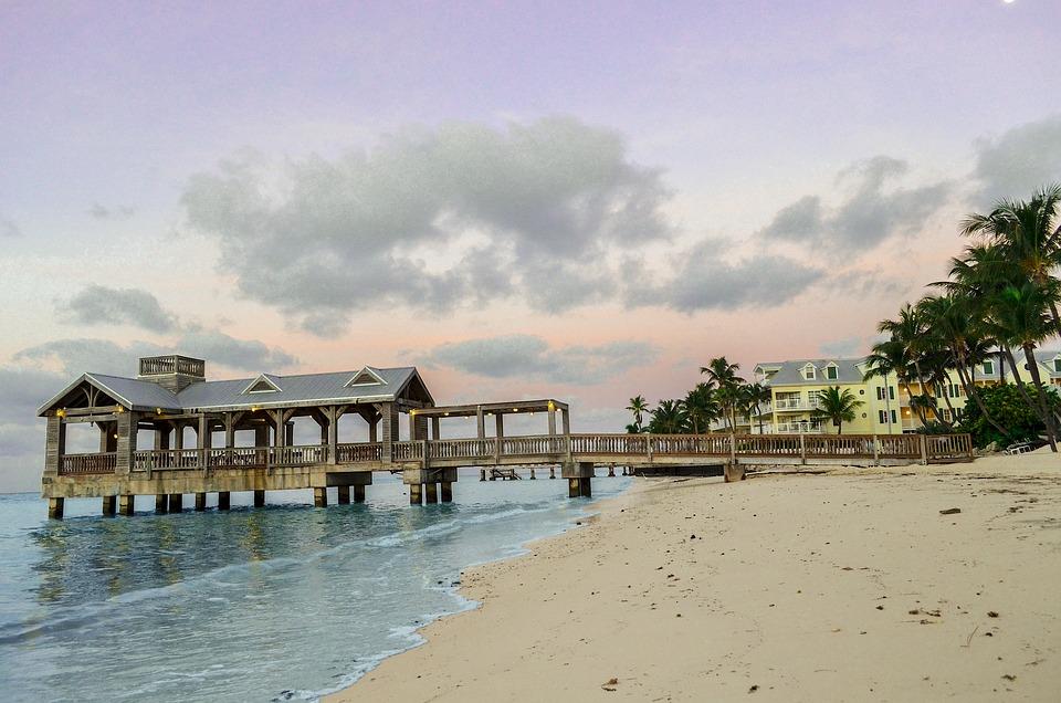 Key West, Pier, Florida, Key, West, Water, Sea, Ocean
