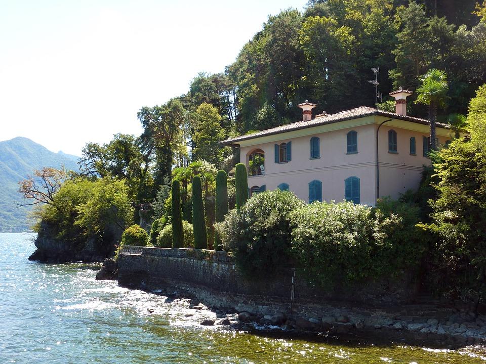 Italy, Lake Como, Basant Di Como, Water, Bank, Lake
