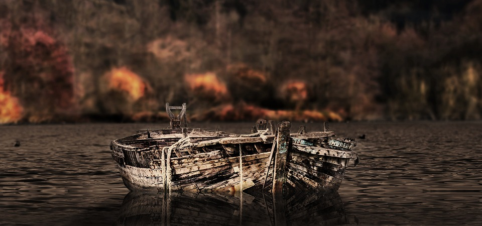 Nature, Boat, Wood, Waters, Lapsed, Lake, Water, Old